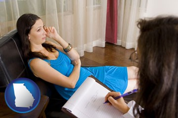 a counseling session - with Georgia icon